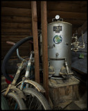 Producer Gas for a car (gengasaggregat) stored here in the attic since 1947..!!