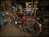 An old moped in the attic