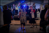 Old ladies dancing to Mr Jay Jazz during Malmö festival