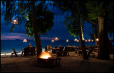 Beach cafe at hotel Dusit