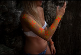 Body painted tourist in Maya Bay