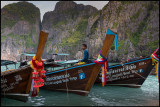 Longboats at Maya beach