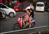 Rainy conditions in Ao Nang