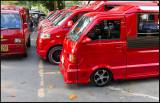 Ao Nang red taxicabs