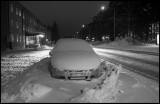 Frosty snowy morning in Kalix