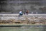 Sitting along the Seine