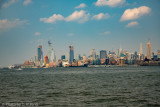 New York Skyline looking up the Hudson