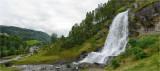Steinsdalsfossen Waterfall, Kvam, Hardangerfjord.