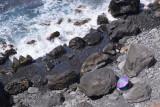 Stony beach, La Rambla