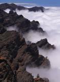 Clouds invading the caldera