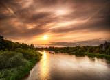 Sunset over the Black Bridge