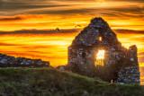 Clonmacnoise Castle Ruins Sunset