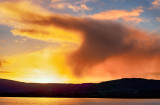 Rainstorm Sunset - over Lough Derg