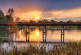 Winter Sunset - Black Bridge