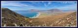 Ireland - Co.Mayo - Achill Island - View from Minaun Hill  with Keel Beach below.