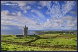 Ireland - Co.Clare - Doonagore Castle - 16th century tower house above Doolin.