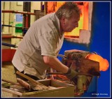 Ireland - Co.Waterford - House of Waterford Crystal - Glass blowing.
