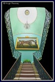 Ireland - Co.Down - Mount Stewart - Staircase and Stubbs painting.