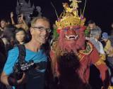 The evil by Kecak-Tanz and me in Pura Luhur Uluwatu