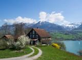 Farmer house on lake Sarnen