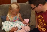 Daddy with Two Daughters