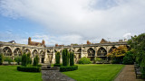 The cloister courtyard