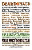 Dear Donald Poster