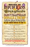 Notice To Republicans & Evangelicals