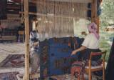 Weaving kilims in Göreme