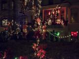 The 'Halloween House' at Christmas