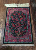 Carpet, Iranian, Qum, silk