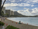 Diamond Head from the hotel beach