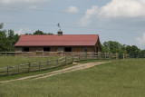 The sheep barn