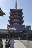 Pagoda adjacent to Sensō-ji, Tokyo