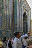 Shah-i-Zinda and tour guide, Samarkand