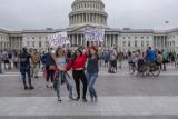 Posing protestors