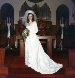 My bride at the altar in January, 1972