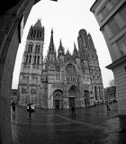 Walking in Rouen; Jeanne d'Arc's town and the Cathedral painted by Monet (Feb 2017)