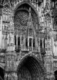 Notre Dame de Rouen, the cathedral (detail).