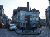 Honfleur downtown. Cars are enemies of photographers.