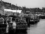 The harbor and the Sunday market at Trouville.