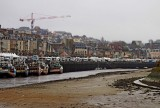 Trouville harbor; sea level was very low.
