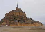 The Mont Saint Michel, viewed from outside.