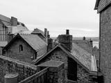 Mont Saint Michel: roofs.