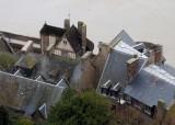 Mont Saint Michel; roofs.
