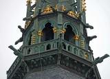 The Mont Saint Michel : the abbey tower.