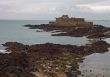 Saint-Malo, viewed from the external wall.