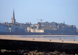Saint-Malo, viewed from the Le Sillon beach.