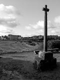 Saint-Guirec Beach; Beau Site Castle in the background.