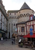 Vannes, an entrance of the old city.